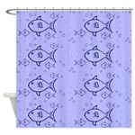Fishy Design Shower Curtain