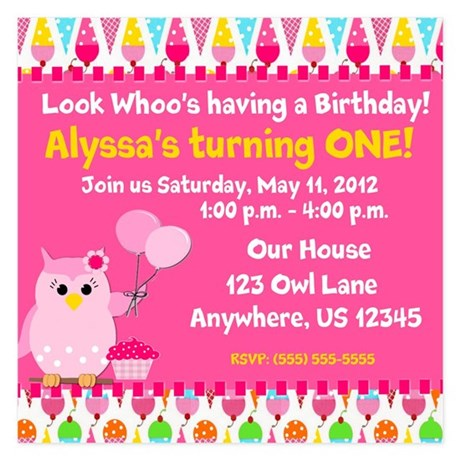 Invitations for First Birthday First Birthday Announcements