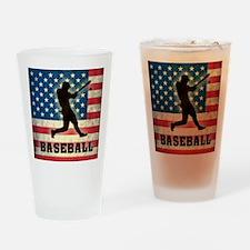 Grunge USA Baseball Drinking Glass