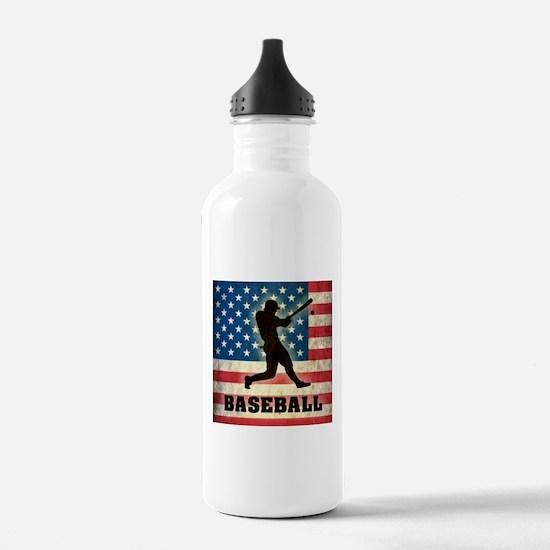 Grunge USA Baseball Water Bottle