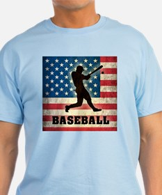 Grunge USA Baseball T-Shirt