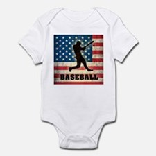 Grunge USA Baseball Infant Bodysuit