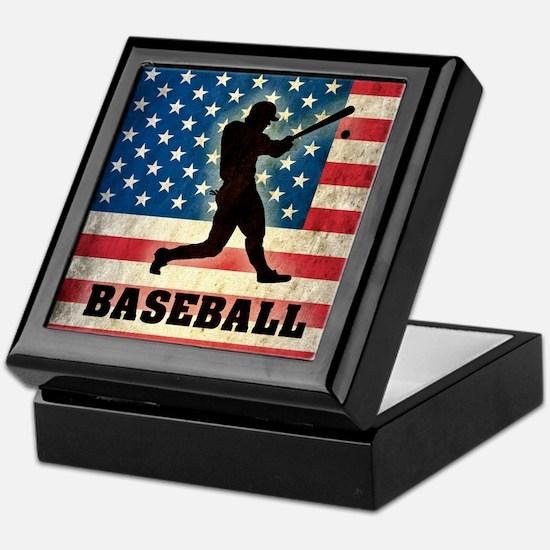 Grunge USA Baseball Keepsake Box
