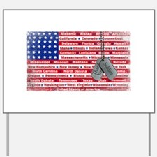 Thank You Soldier Dog Tags Yard Sign