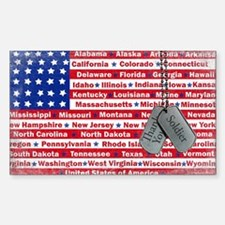 Thank You Soldier Dog Tags Decal