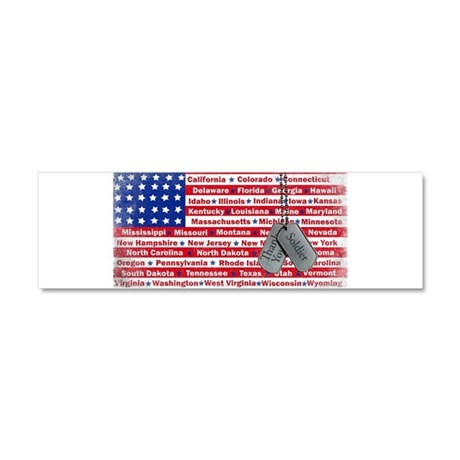 Thank You Soldier Dog Tags Car Magnet 10 x 3