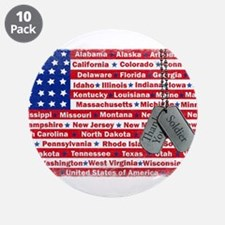 "Thank You Soldier Dog Tags 3.5"" Button (10 pack)"