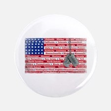 """Thank You Soldier Dog Tags 3.5"""" Button"""