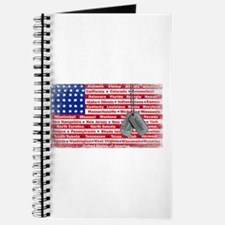 Thank You Soldier Dog Tags Journal
