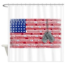 Thank You Soldier Dog Tags Shower Curtain