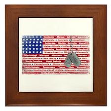 Thank You Soldier Dog Tags Framed Tile