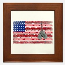 Thank You Soldier Dog Tags Framed Tile