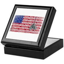 Thank You Soldier Dog Tags Keepsake Box