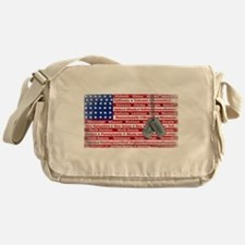 Thank You Soldier Dog Tags Messenger Bag