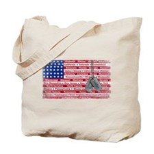 Thank You Soldier Dog Tags Tote Bag
