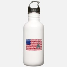 Thank You Soldier Dog Tags Sports Water Bottle
