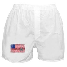 Thank You Soldier Dog Tags Boxer Shorts