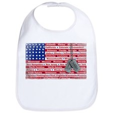 Thank You Soldier Dog Tags Bib