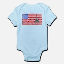 Thank You Soldier Dog Tags Infant Bodysuit