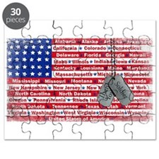 Thank You Soldier Dog Tags Puzzle