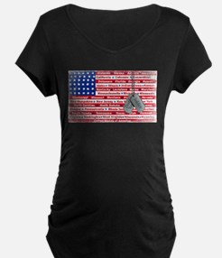 Thank You Soldier Dog Tags T-Shirt