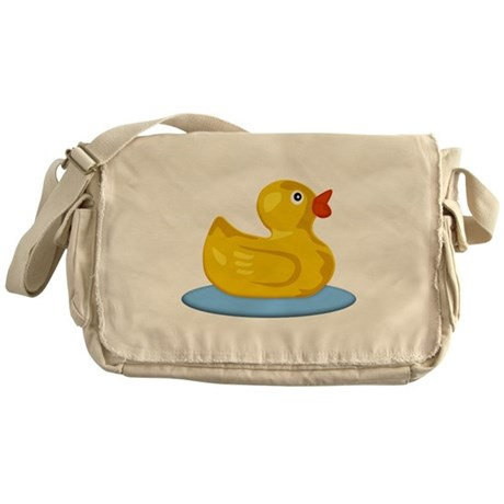 Yellow Rubber Ducky in Pong Messenger Bag