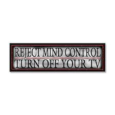 TV Mind Control - Car Magnet 10 x 3