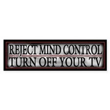 TV Mind Control - Bumper Sticker