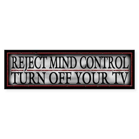 TV Mind Control - Sticker (Bumper)