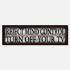 TV Mind Control - Sticker (Bumper)