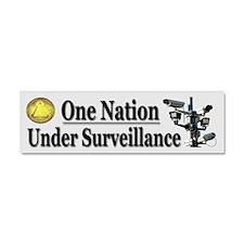 Under Surveillance Car Magnet 10 x 3