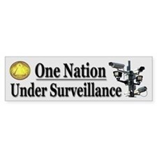 Under Surveillance Car Sticker