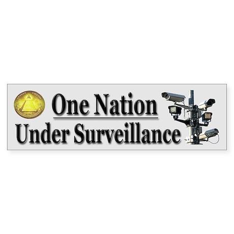 Under Surveillance Sticker (Bumper)