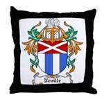 Neville Coat of Arms Throw Pillow
