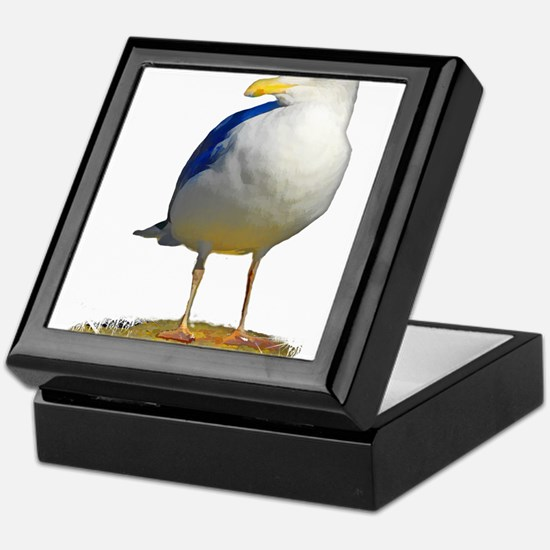 Sea Gull Has His Eye on You Keepsake Box