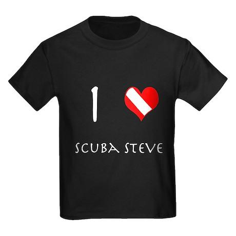 I Love Scuba Steve Kids Dark T-Shirt