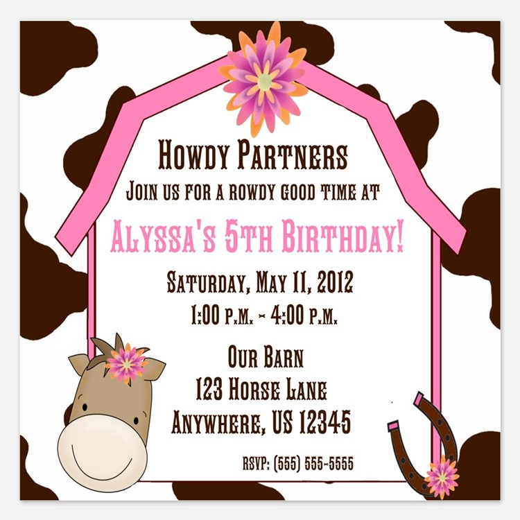 Cow Invitations – Cow Party Invitations
