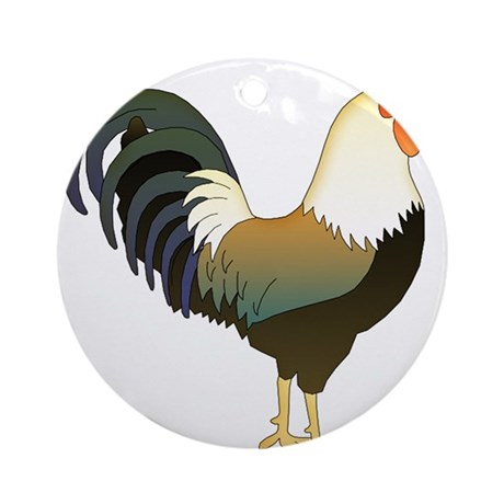 Rocking Rooster Ornament (Round)