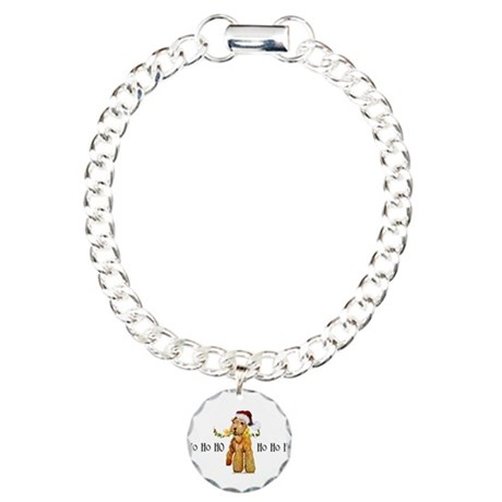 Irish Terrier HO HO HO Charm Bracelet, One Charm