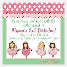 Ballet Birthday Invitation Invitations