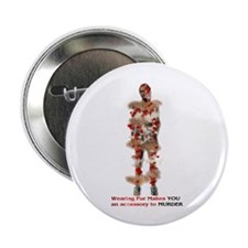 "Fur Is Murder 2.25"" Button (100 pack)"