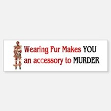 Fur Is Murder Bumper Bumper Bumper Sticker