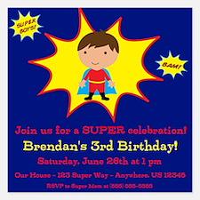 Super Kids Invitation Invitations
