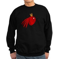 Crazy Red Bird with Stars and Gold Head Piece Swea