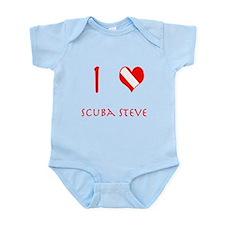 I Love Scuba Steve (red) Infant Bodysuit