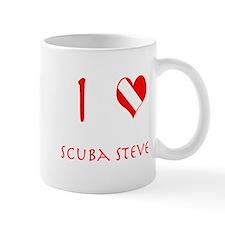 I Love Scuba Steve (red) Mug