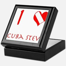 I Love Scuba Steve (red) Keepsake Box