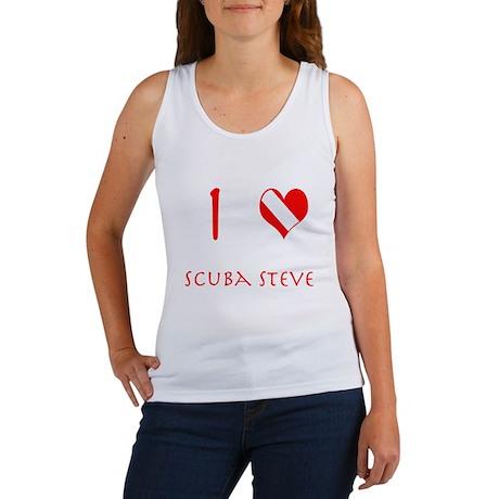 I Love Scuba Steve (red) Women's Tank Top