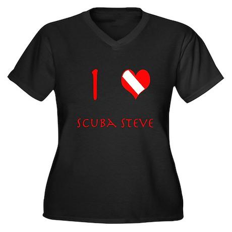 I Love Scuba Steve (red) Women's Plus Size V-Neck