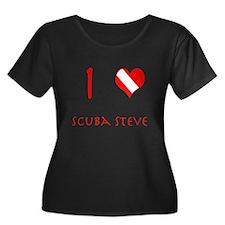 I Love Scuba Steve (red) T